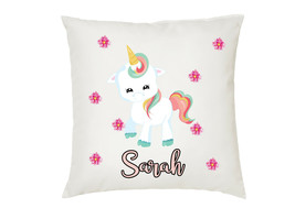 Personalised Unicorn Cushion Cover Your Name ( S2 ) - $10.21