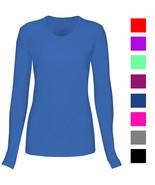 T Flex Womens Comfort Long Sleeve T-Shirt Underscrub Tee Layering Shirt ... - $9.89+