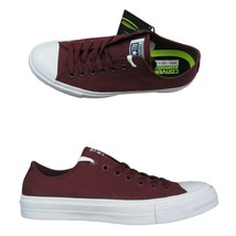 Converse Chuck Taylor All Star II OX Low Sneakers Size 9 Deep Bordeaux 150150C - $49.45