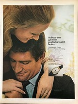 ORIGINAL 1968 Timex Electric Non-Winding Wristwatch Print Ad - $11.69