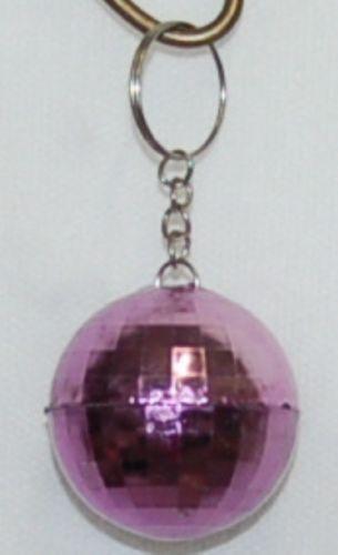 Generic Brand Purple Mirror Disco Ball Keychain 3 inches Long