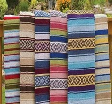 Colorful Mexican Blanket (1-pc Random) - $13.30 CAD