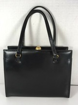 Leopold True Vintage Small Black Handbag Vegan Leather - $26.18