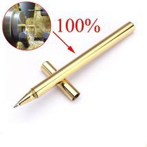 High Quality Luxury Gold Optional Minimalism Superfine Ballpoint Pen Pur... - $41.99