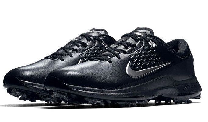 0261e335cf1f NIKE AIR ZOOM TW71 TIGER WOODS GOLF SHOES BLACK GREY SIZE 9 NEW (AA1990