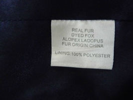 Jocelyn Bicolor Black Navy Roadie Fox Fur Vest New $1.1 image 11