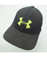 Under Armour Grey Green Ball Cap Hat Fitted M/L Baseball - $13.85