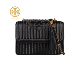 TORY BURCH FLEMING MINI STUD SMALL CONVERTIBLE SHOULDER BAG 52310 with F... - $370.00