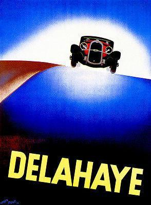 Primary image for 1932 Delahaye - Promotional Advertising Poster