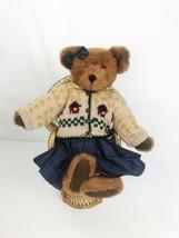 Boyds Bear Bearwear Clarissa With Blue Jean Dress Berriman Retired Collectible - $24.68