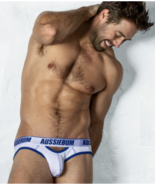 "Aussiebum Riot White & Blue Jockstrap Made in Australia  ""X-Large"" - $18.80"