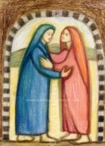 """The Visitation of Mary to Elizabeth —8.5x11""""—Catholic Art Print - $19.95"""