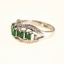 18k Emerald and Diamond Ring UK Size K BHS - $1,374.91