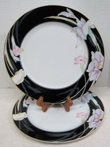 2 Mikasa Charisma Black Discontinued 1983 - 1997 2 Dinner Plates Very Good Shape - $39.59