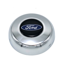 """Horn Button Ford Oval Logo Steel Chrome 3"""" Grant Classic Challenger Seri... - $17.50"""