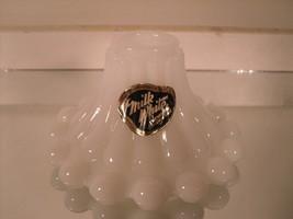 "Anchorglass ""Milk White"" Milk Glass Candlestick with Original Sticker - $7.93"