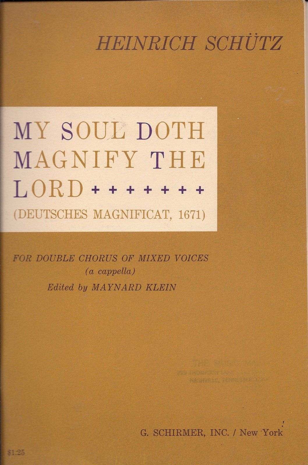 My Soul Doth Magnify the Lord-Song Book for Double Chorus of Mixed Voices