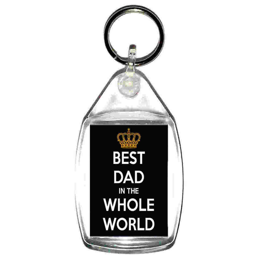 best dad in whole world  handmade in uk from uk made parts keyring, keyfob