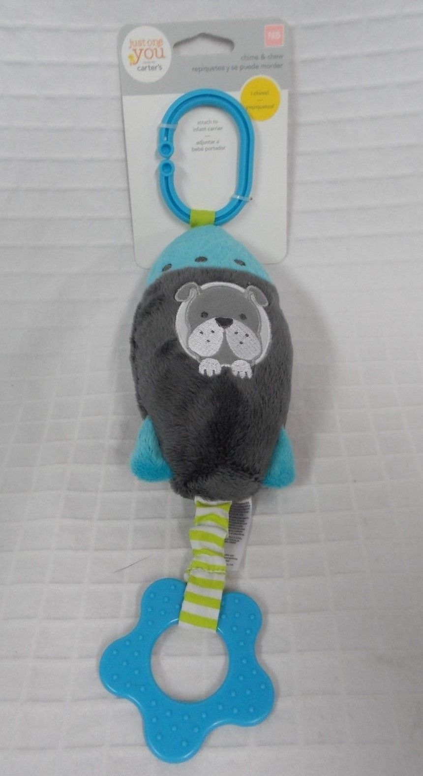 NEW Baby CARTER/'S Just One You BROWN Bear Chime /& Chew teether hang toy stroller