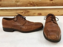 Johnston Murphy Bicycle Toe Oxfords Lace Up Mens Size 10.5 M Brown Leather - $33.85