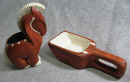 1950s Larry Larsen Calif Mid Century Modern  Horse Cigarette Holder Ashtray - $28.04
