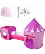 NEW LARGE Pop Up Princess Play Palace Dress Up Tunnel Hut Tent Glow Star... - $54.99