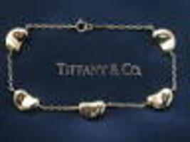Tiffany & Co 18 quilates Elsa Peretti 5-Bean Oro Pulsera Oro Amarillo 17.8cm - $2,342.86