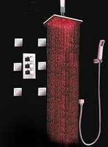 Cascada Luxury Bathroom Shower Set with Luxury Water Power LED Shower Head (Ceil - $940.45
