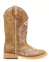 Blazin Roxx Girls' Gracie Wings and Cross Inlay Boot Brown 12.5 US - $84.85