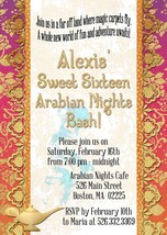 Arabian Nights, Moroccan, Personalized Invitation, Sweet Sixteen, Birthday - $12.00