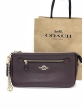 NWT Coach F53078 Nolita 24 Wristlet Wallet Pebble Leather Bag Purse Oxbl... - $1.748,91 MXN
