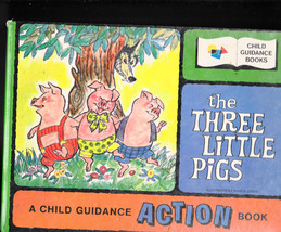 The Three Little Pigs Child Guidance Action Book Japan book moveable - $14.05