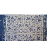 Faith Austin Handkerchief EUC Blue Urn Print - $25.00