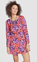 Women's FREE PEOPLE Parker Dress Tangerine Floral Fit Flare Fruit Purple... - $39.50