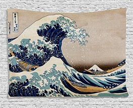"Japanese Artist Hokusai Painting ""The Great Wave Off Kanagawa"" Polyester... - $21.52"