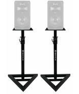 2 Rockville Adjustable Studio Monitor Speaker Stands For ADAM Audio S5V ... - $99.99
