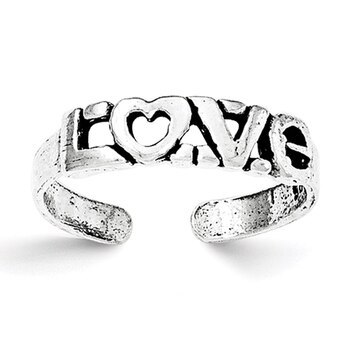 Primary image for Lex & Lu Sterling Silver Antiqued LOVE Toe Ring