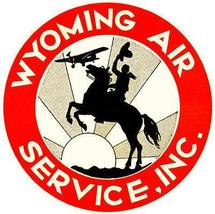 1930 Wyoming Air Service, Inc - Promotional Advertising Poster - $9.99+