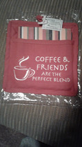 Park Designs Coffee and Friends Pocket Potholder and Tea Towel Set NEW - $7.69