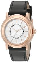 Marc Jacobs Women's MJ1450 Courtney Black Leather Watch - $139.76