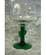 "2 LIBBEY Cozumel Margarita Green CACTUS Stem - 16 oz. - 6-1/4"" - $9.00"