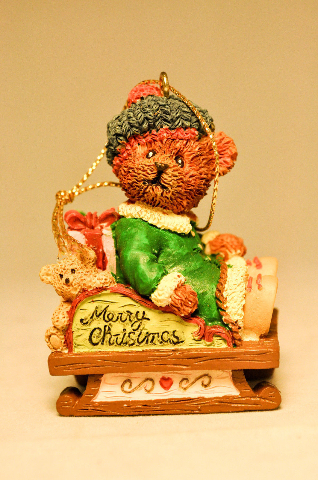 Bears From The Past - Bear on Sled - 13782 - Holiday Ornament