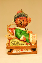Bears From The Past - Bear on Sled - 13782 - Holiday Ornament - $11.26