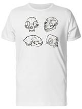 Drawings Of A Cat Skull Men's Tee -Image by Shutterstock - $311,55 MXN+