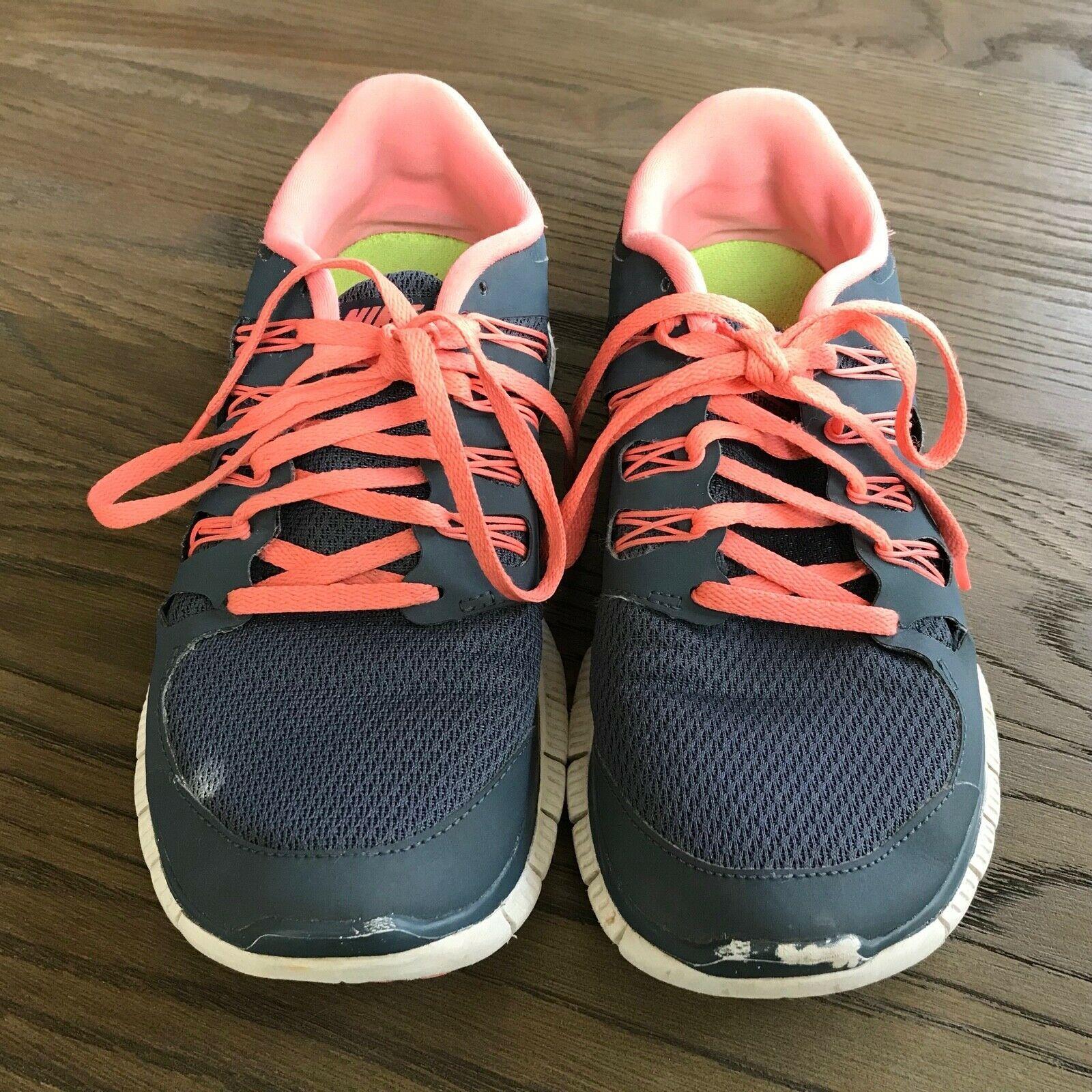 NIKE FREE 5.0 lightweight Gray/Peach Running Sneakers Size 8.5