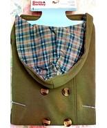 Boots & Barkley Pea Coat, Green, Large. NEW - $19.60
