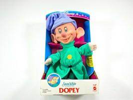 "Disney Snow White and The Seven Dwarfs 14"" Dopey Plush Doll 1993 Mattel - $34.99"