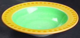 Rim Soup Bowl Yellow & Green Potter's Wheel Design by Epoch Collection - $16.99