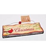 Wood Plaque Merry Christmas Hanging Sign Oak Street Wholesale - $15.39