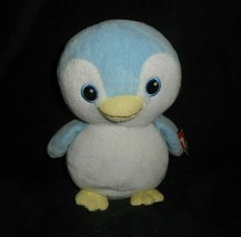 Ty Pluffies 2011 Petey The Blue Bianco Bambino Pinguino Peluche Peluche Tag - $43.17